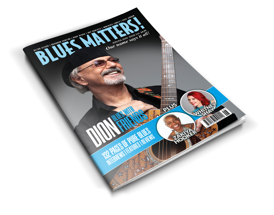 image of blues matters magazine issue 114 with dion on the cover