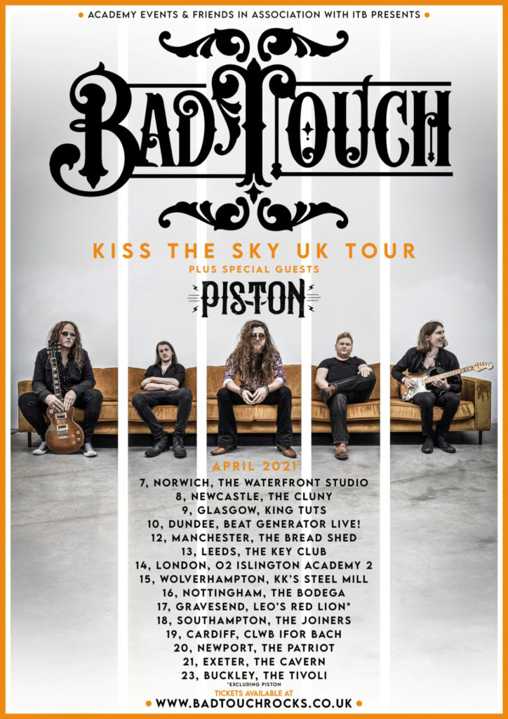 image of bad touch tour poster april 2021