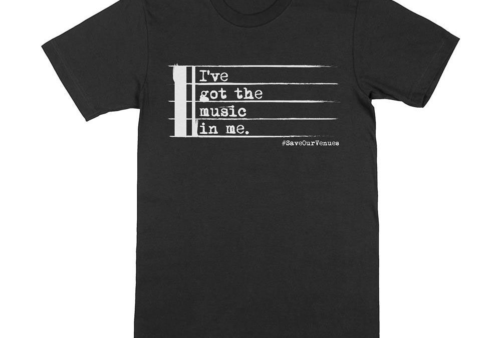 image of save our venues t-shirt