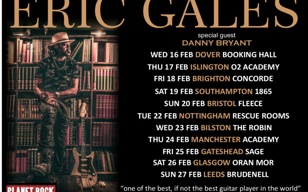 Eric Gales Rescheduled Feb 2022 Tour