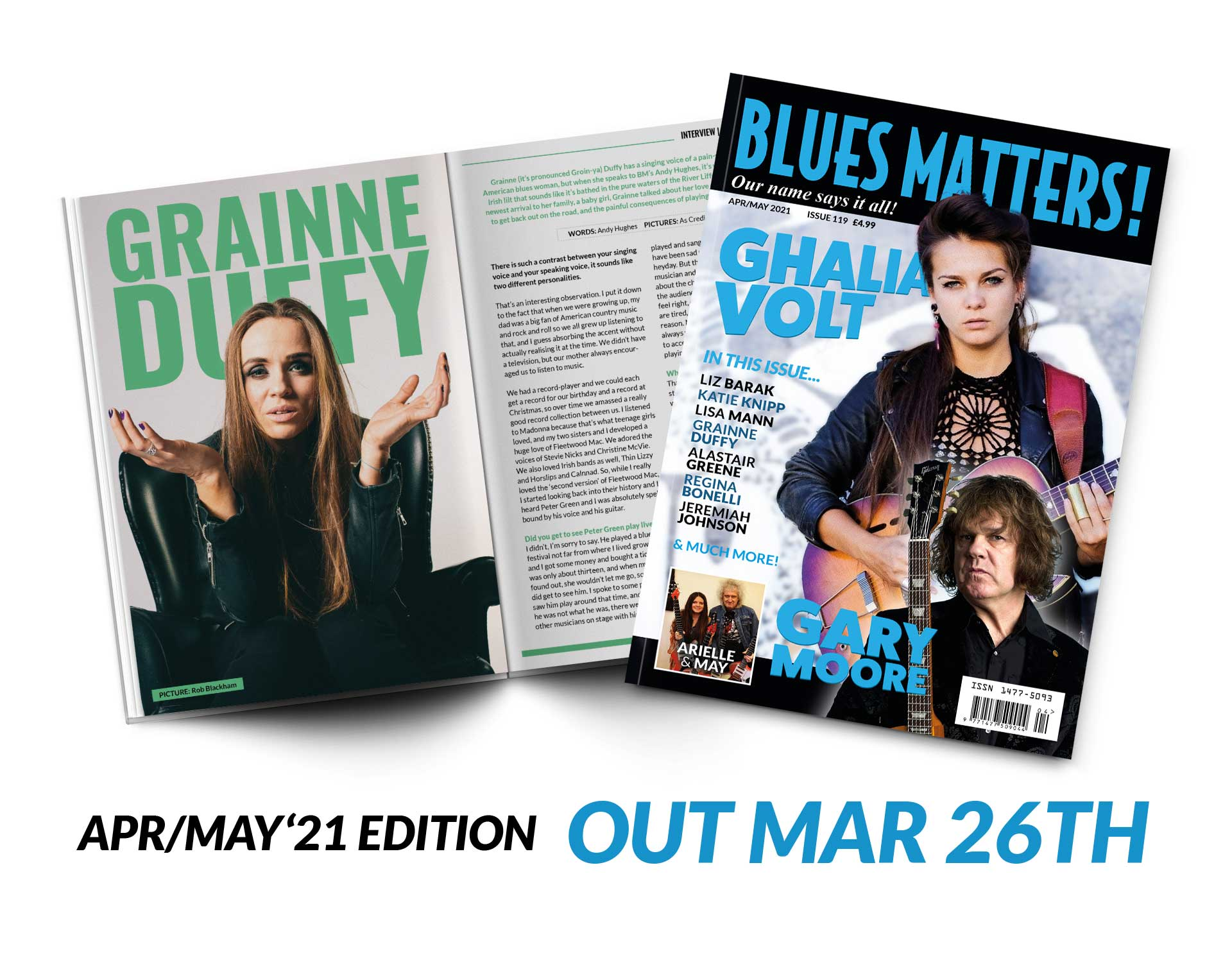 image of blues matters issue 115 with felix rabin