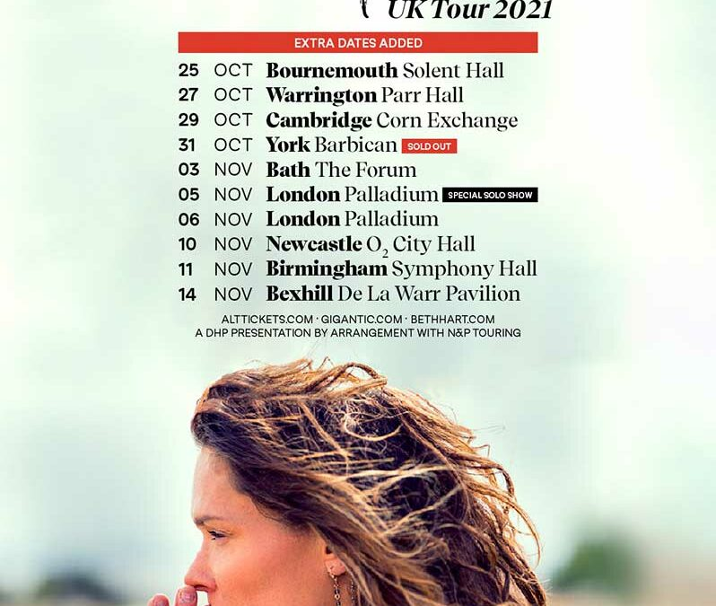 """Beth Hart adds five new shows to October/November """"Thankful"""" 2021 UK Tour"""