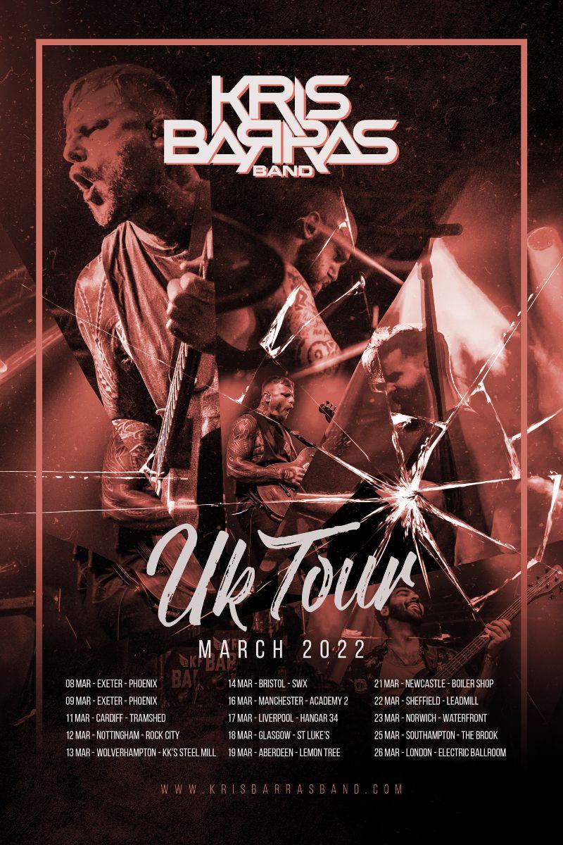 Kris Barras Band 2022 tour