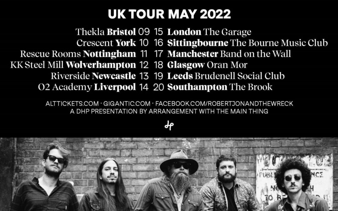 Robert Jon & The Wreck return to the UK for 12-date tour in May 2022