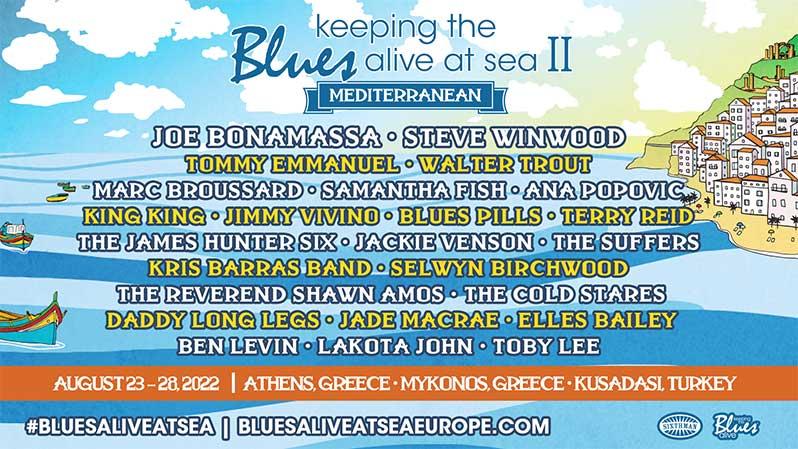 Steve Winwood Joins Joe Bonamassa for Keeping The Blues Alive at Sea Mediterranean Cruise II